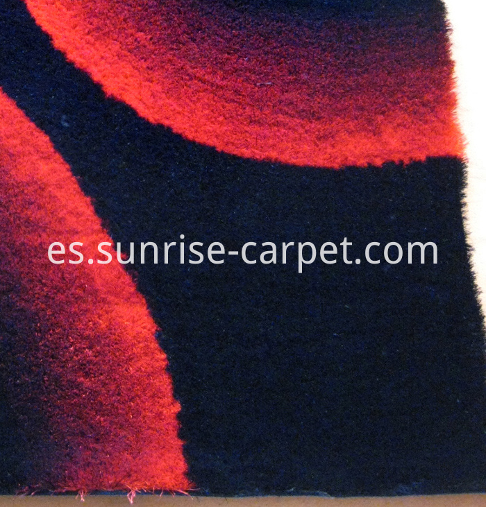 Thin Polyester Shaggy Rug Gradational Color