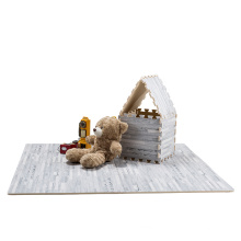 2021  custom size non toxic Sound insulation anti-skid wood grain eva foam tatami puzzle mat
