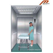 Machine Room Bed Elevator with Hairless Stainless Car Wall