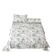 Amazon hot sell 100 polyester modern print beautiful custom comfort set bed sheet sets