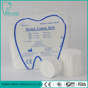 100% Cotton Medical or Dental Disposable Cotton roll