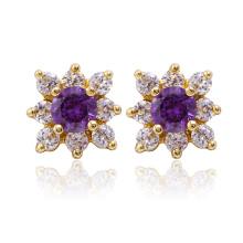 Fashion Zircon Flower Elegant Earring for Party (24322)