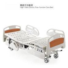 Lit d'hôpital électrique à cinq fonctions à haute qualité