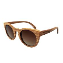 Las cebras hechas a mano de la marca de fábrica FQ gafas de sol polarizadas de madera de las mujeres