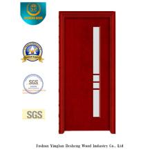 Puerta de acero de seguridad Simplestyle con vidrio (S-1028)
