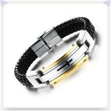Jóias colar pulseira de couro para homens charme (lb102)