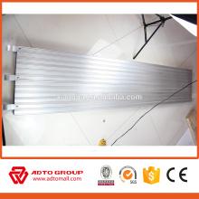 Planche en aluminium standard d'échafaudage des Etats-Unis 7 'X19.25' 'utilisée pour la construction