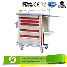 CE Approved ABS Hospital Movable Trolley