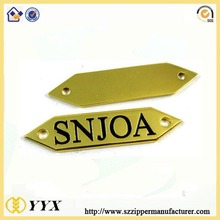 Custom design metal labels for decoration