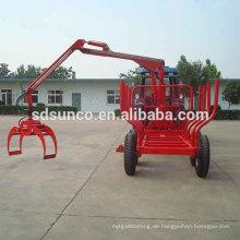 8t Anhänger auf Traktor Holz Anhänger Log Loading Anhänger