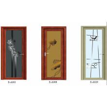 Porta de vidro deslizante e deslizando a porta