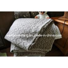 Сплетенные одеяло чистой мериносовой шерсти (Nmq-Wb030)