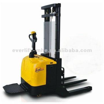 Empilhador elétrico Straddle Empilhador alimentado com pernas largas, empilhador eletrico de perna larga Empilhador eletrico empilhador de perna