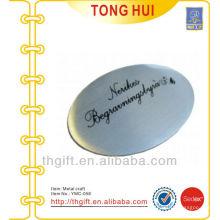 Placa / acessório de alumínio personalizado com logotipo de impressão