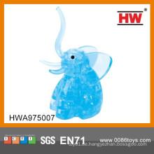 Heißer Verkaufs-Plastikelefant-Tier-lustiges Spielzeug 3D Puzzlespiel-DIY