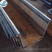 Palplanche en acier haute qualité laminé à chaud en tôle d'acier 400mm Sri Lanka