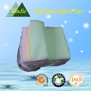 Multi-Ply Colorless Carbonless Tipo de Impresión Continua Computer Paper