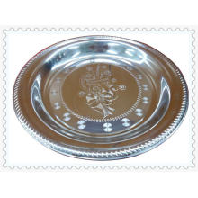 2015 Hot vente Than-Flower en acier inoxydable plaque ronde-Lfc10261