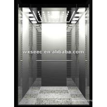 Mirror Etching Cabin MRL Passenger Elevator