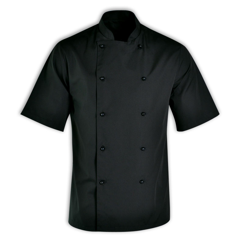 short sleeve chef top black
