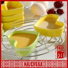 Keramik Herzförmige ramekin, Keramik Herzform Gericht