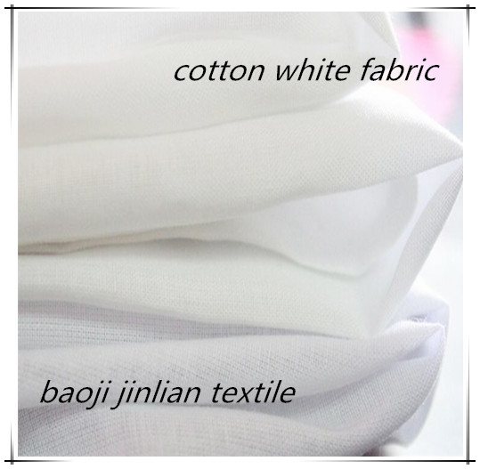 100% Combed Cotton Bleached White Fabric Untuk Garment