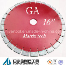 """GP 16 """"* 25 mm resultado satisfactorio diamante granito corte hoja de Sierra"""