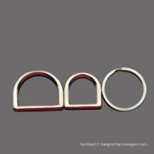"""Metal Stainless Steel D Ring Buckle 1"""" Inside Diameter Loop Ring for Strap Keeper"""