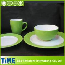 16pc runde Form Neue weiße Porzellan Dinner Set