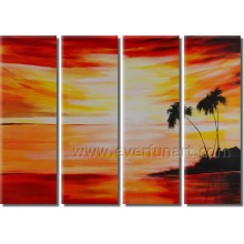 Seascape Beach Peinture à l'huile sur toile