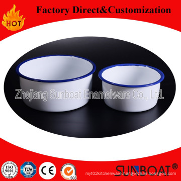 Sunboat 2 Type Enamel Bowl Tableware Kitchen Appliance