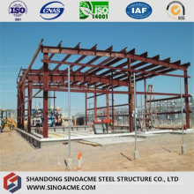 Estrutura de estrutura de aço para processamento de construção de oficina