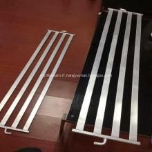 Plaque de refroidissement par eau d'extrusions en aluminium pour échangeur de chaleur