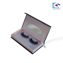 caja de empaquetado de papel cosmético de la pestaña falsa de lujo