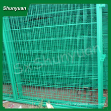 Dark Green PVC coated welded wire fence