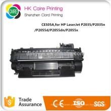 Cartucho de tonalizador compatível do preço de fábrica CE505A para HP Laserjet P2035 / P2035n P2055D / P2055dn / P2055X