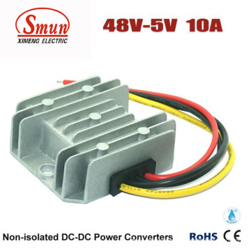 Waterproof IP68 48VDC to 5VDC 10A Step Down DC-DC Converter