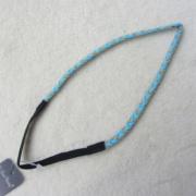 Moda brillo peluca elasticidad aseado trenza diadema pelo banda anillo cuerda Headwear