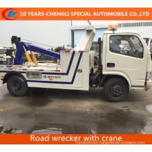 Flatbed Raod Wrecker Truck with Crane Tow Crane