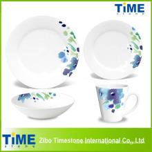 Ensemble de vaisselle fine en porcelaine 16PCS Elegance