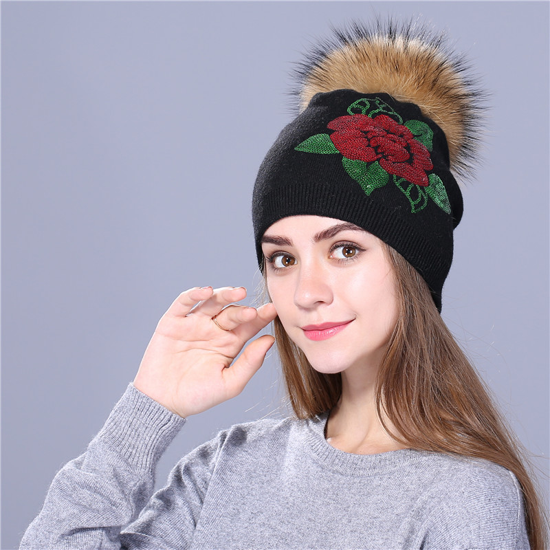 Female Sequin Embroidery Hat