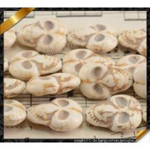 Howlite menschliche Schädel Perlen, Schmuck lose Türkis Perlen (GB0116)