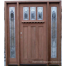Walnut Dutch Door Frosted Glass Solid Wood Exterior Wood Doors
