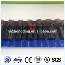 Revêtement UV toiture en polycarbonate feuille ondulée