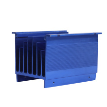 Custom aluminum 6063 Heatsink Extrusion CNC Machining Anodizing Black for UPS Power Supply