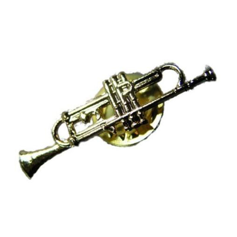 Trumpet Pin Gold Plating