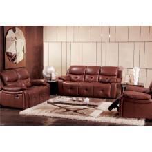 Sofá de salón con sofá moderno de cuero genuino (925)