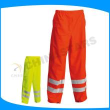 Pantalones impermeables anaranjados de la tela de 150D oxford vis para la ropa de trabajo