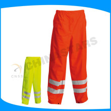 150D oxford fabric orange waterproof hi vis pants for workwear
