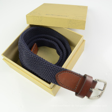 EURO Multi Color Weave Polyester und Ledergürtel